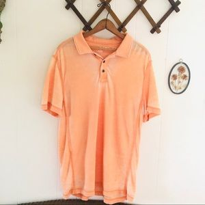 Helix Faded Orange Lightweight Collared Shirt